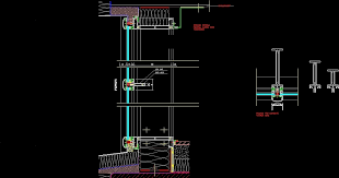 curtain wall section cad gopelling net