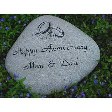 personalized river rock garden stone