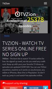 tvzion. this looks like almost moviezion except there you can watch free tv shows online. it has all the aforementioned features dark interface, tvzion