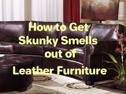 stinky smells out of leather furniture
