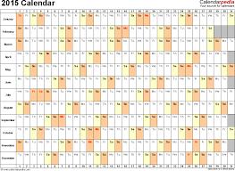 2015 Calendars 2015 Calendar Excel Download 14 Free