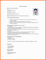 New Bio Data Format Format Of Marriage Resume Best Of Format