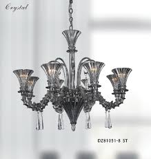 smoke color glass murano style home glass chandelier 81051 8