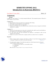 introduction to business management assignment the document