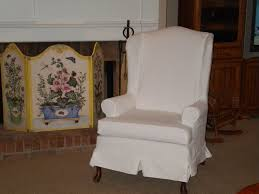 Living Room Chair Cover Accessories Wing Back Chair Covers Within Superior White Fabric