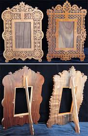 this is a pair of beautiful fretworked frames to be used with pictures or mirrors they can be scaled to any desired size and cut in any wood width