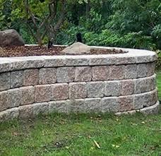 concrete block retaining system