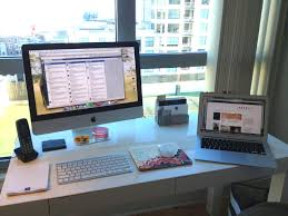 organize office desk. How To Organize Office Space. Chic And Organized Desk Space Turnstone Furniture
