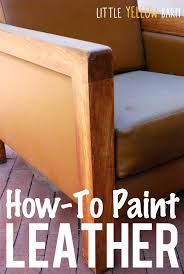 how to paint leather can you paint leather furniture