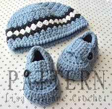 Baby Beanie Crochet Pattern Magnificent To Baby Boy Hat And Booties Crochet Pattern PDF Beanie Hat Infant