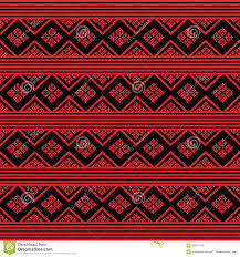 History Of Fabric Design Sarong Pattern Background In Thailand Stock Illustration