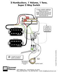 Wiring Diagrams For Split Humbuckers 1 Volume 1 Tone Pickup Wiring Diagrams Humbucker 2 Volume 1 Tone