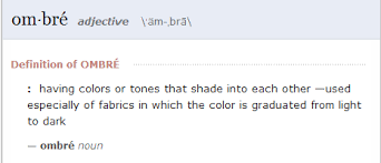 Ombre Definition Definition Of Ombre Home Design Prepossessing .