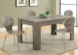 modern kitchen table. monarch specialties i 1055, dining table, dark taupe reclaimed-look ,60\ modern kitchen table