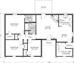 simple one story floor plans. Modren Plans Simple One Story 3 Bedroom House Plans And Floor