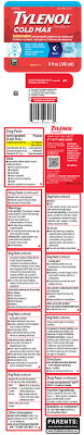 Tylenol Cold Dosage Chart Tylenol Cold Max Night Solution Johnson Johnson Consumer