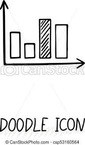 Vector Doodle Diagram Icon Chart With Columns