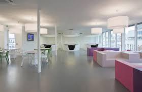 minimalist office design. futuristic white office interior design combined with pink furniture minimalist e