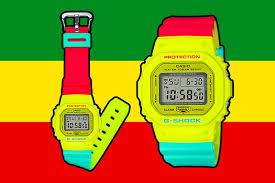 casio g shock rasta watch series gw 5600cma 9 dw 5600cmb