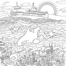 Detailed Landscape Coloring Pages For Adults - Part 2
