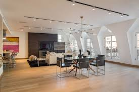 modern track lighting fixtures idea feat black leather dining chairs set plus cool windows design