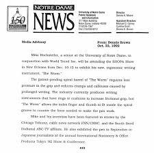 Media Advisory Oct 22 1992 Notre Dame Media Advisory Notre Dame In
