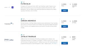 Airline Rewards Comparison Chart