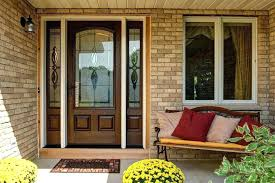reliabilt patio doors doors doors doors wood and glass door with sidelights brown stone exterior wall