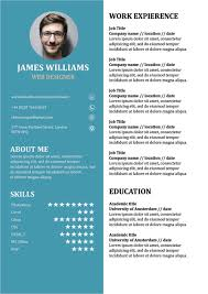 Resume Template Doc Fascinating Resume Template Creative CV Doc Word Free