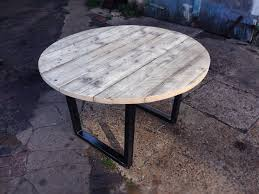 amazing revive joinery reclaimed scaffold round dining table with metal table