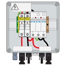 pv combiner box 1000vdc 30a ip66 1str t2 15a fuse connector