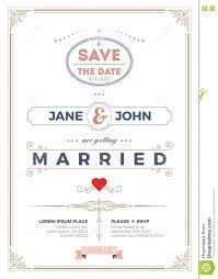 Vintage Wedding Invitation Card Template Stock Vector Illustration