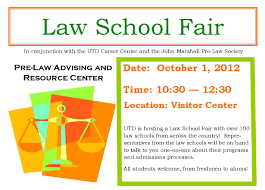 law school fair on monday oct utd career center bits advertisements