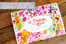 Printable Thank You Cards For Teachers Fill In Teacher Thank You Free Printable