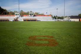 grass soccer field. Dave Buffum Leads A Four-person Team At SU That Mows The Soccer Stadium Grass Soccer Field