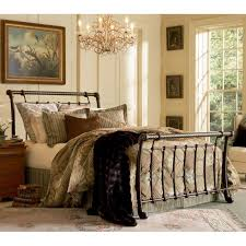 Bedroom King Size Cast Iron Bed Frame Wrought Iron Bed Frames Queen ...