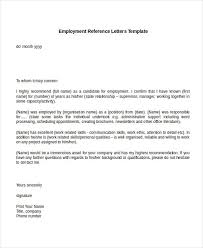 Sample Recommendation Letter For Job From Employer With
