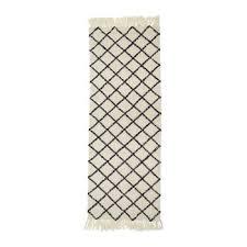 diamond runner rug 200x70cm natural grey