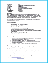 Sample Resume For Banking Operations Free Resume Example And