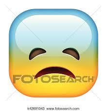 Sad Emoticon Clipart K42691043 Fotosearch