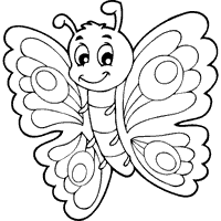 colouring pages of butterfly.  Butterfly Butterfly With Eyespots  Coloring Pages Surfnetkids  Lots Of Coloring  Pages On This Site In Colouring Of C