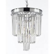 palladium 3 light chrome crystal glass fringe modern chandelier