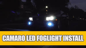 2010 Camaro Fog Light Bulb Size 2010 2013 Chevy Camaro Led Fog Lights For Cars Upgrade Install