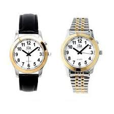 17 best images about female watches emporio armani two tone ladies ila talking watch white face choice of voice leather band