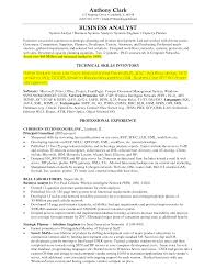 resume examples business analyst resume objective junior business resume examples template of business analyst resume competencies in capacity planner and technical skills