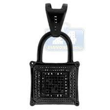 mens diamond padlock lock pendant 14k