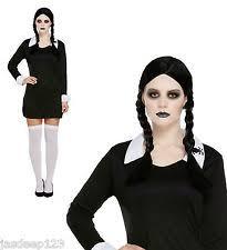 plus size wednesday addams costume addams family fancy dress ebay