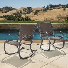 Christopher Knight Home Gracies Outdoor Wicker Rocking Chair Set of 2 df e 8e4c 4447 9ab1 9de40f2f738c 600