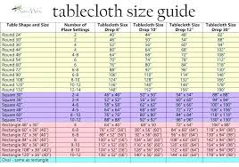 round tablecloth sizes standard for oblong tables fitting chart tab