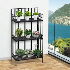 outsunny plant stand 29 5wx120h cm